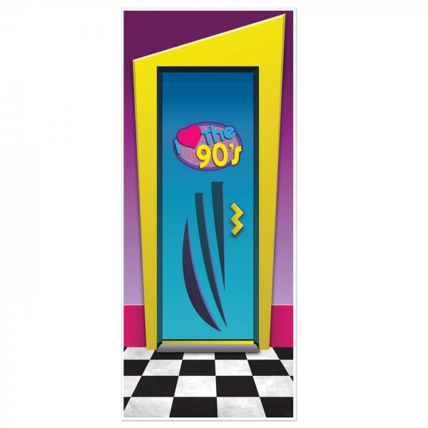 Tür-Dekofolie I Love the 90s - 90er Jahre Retroparty Deko