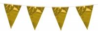 Mini-Wimpelkette Pure Gold, 3 Meter