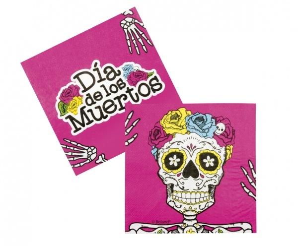 Servietten Sugar Skull Mexikoparty - Dia de los Muertos Deko