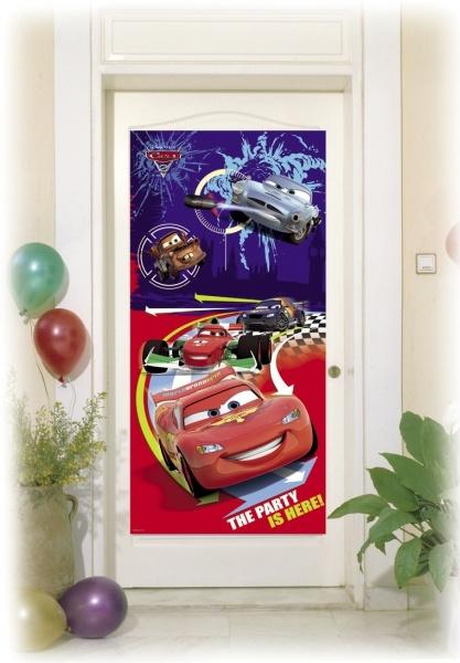 Party-Extra Tür-Dekofolie Cars