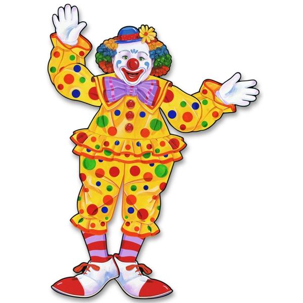 Party-Extra Cutout Figur Clown - Faschings Deko