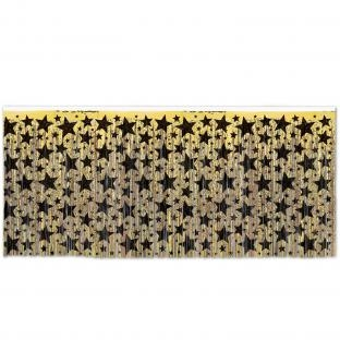 Tischvorhang Golden Starlight, 4,26 m lang, 75cm hoch