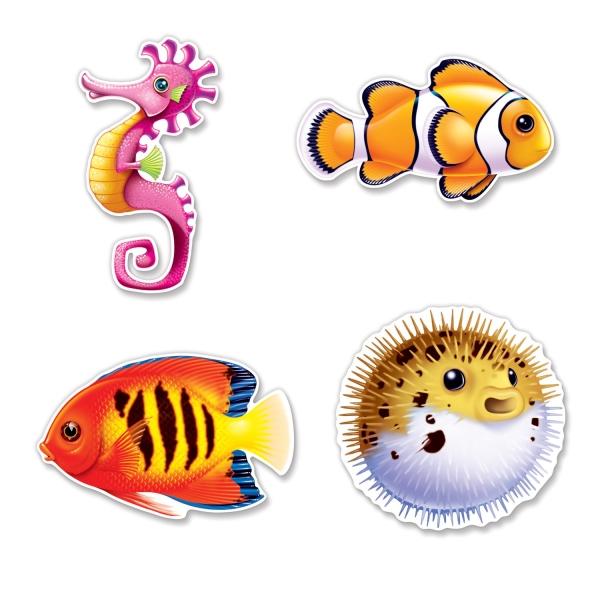 Cutout Set Unter dem Meer - Deko Unterwasserwelt