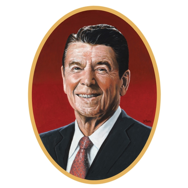 Cut-out Reagan Portrait, 62 x 46 cm