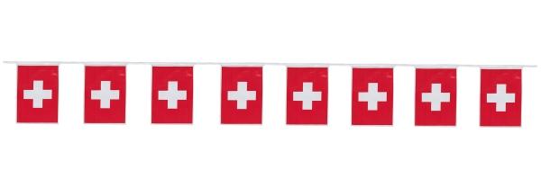 Flaggengirlande Schweiz - Länderparty Deko