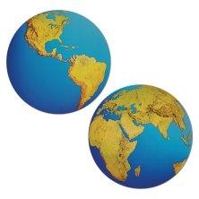 Cutout Schild Planet Erde, 40 cm groß