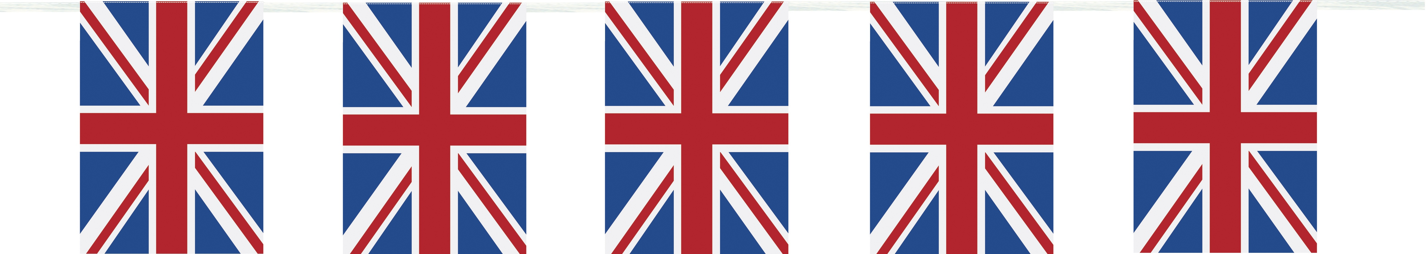 Union Jack Flaggenkette 3 Meter Lang Party Extra