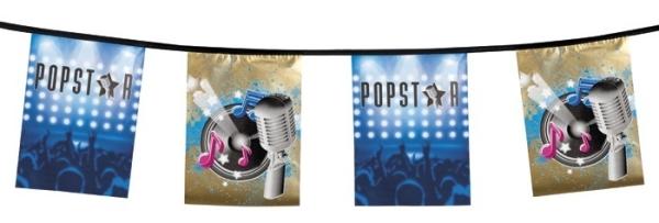 Flaggenkette Popstar - 5 Meter - Rockstar Deko