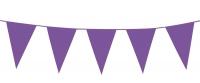 Mini-Wimpelkette Violett, 3 Meter