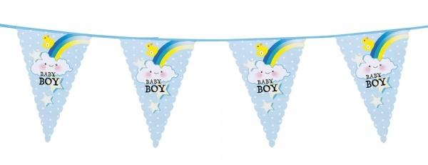 Wimpelkette Baby Boy, 6 Meter