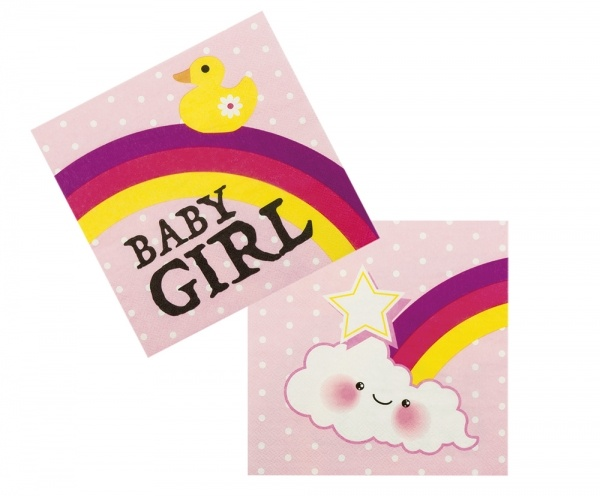Servietten Baby Girl, 12er Pack