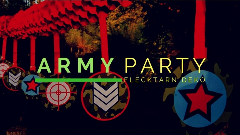 Party-Extra Flecktarn Deko für Army Party