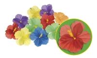 Party-Extra Streudeko Hibiscus Blüten - Beachparty Hawaii Deko