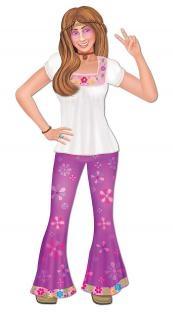 Cutout-Figur Hippie-Woman, 89 cm groß