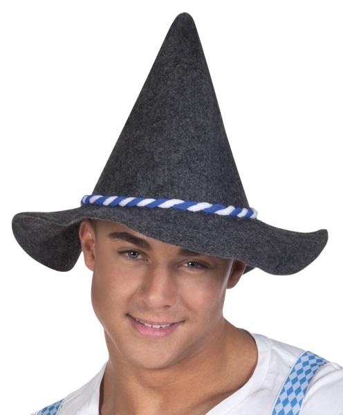 Oktoberfesthut, blau-weiße Kordel