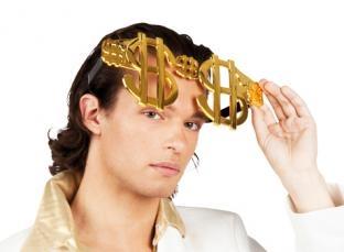 Riesen-Partybrille Double Dollar