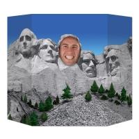 Party-Extra Fotowand Aufsteller Mount Rushmore - USA Deko
