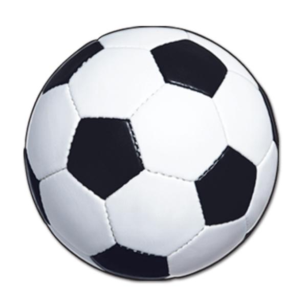 Cutout Deko Fußball, 34 cm - Fußballparty Deko