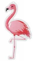 Wanddeko Pink Flamingo, PVC 50 x 30 cm