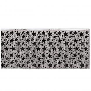Tischvorhang Silver Starlight, 4,26 m lang, 75cm hoch