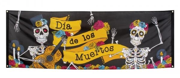 Riesen Stoff-Banner Dia de los Muertos, 74x220cm
