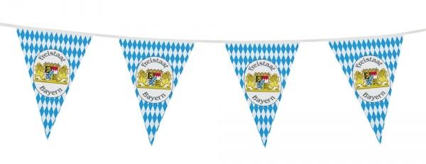 Wimpelkette Freistaat Bayern - Oktoberfest Deko