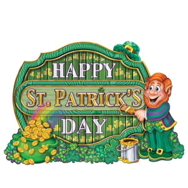 Cutout Schild Happy St. Patrick's Day