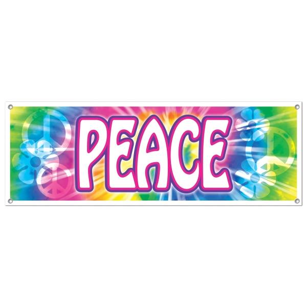 Mega Partybanner Hippie Peace