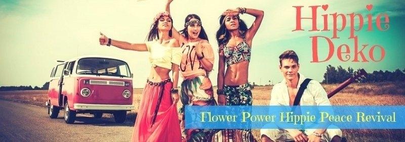 Party-Extra Hippie Deko Flower Power Peace Love + Understanding Revival