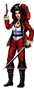 Piraten Cutout Frieda die Freibeuterin, 97 cm