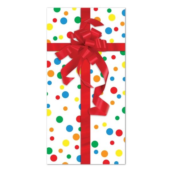 Tür-Dekofolie Buntes Geschenk - Geburtstagsdeko
