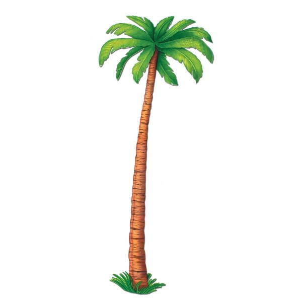 Party-Extra Riesen Cutout Palme, - Beachparty Deko