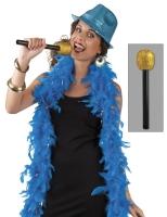Party-Extra Deko-Mikrofon, gold - Produkt + Impression