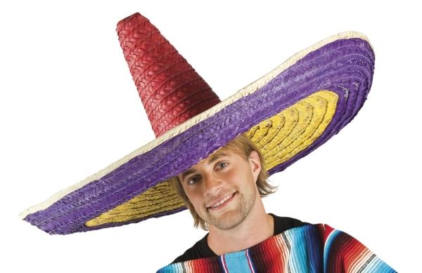 XXL Megariesen Sombrero, 100 cm, gestreift