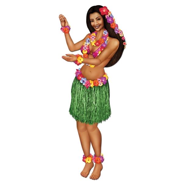 Cutout Figur Polsynesisches Hula Girl - Beachparty Deko