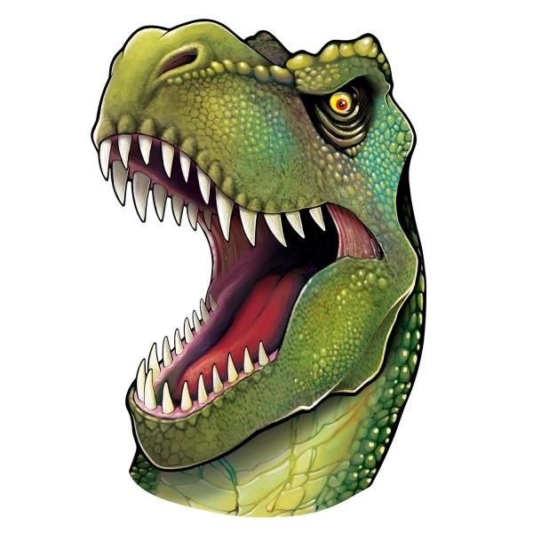 Party-Extra XL-Cutout T-Rex Passbild, 86 cm -Dinosaurier Deko