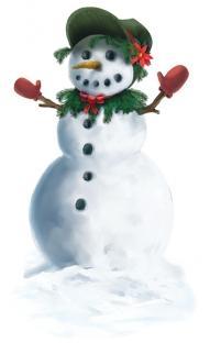 Fenster-Folie Snowgirl - Winterdeko