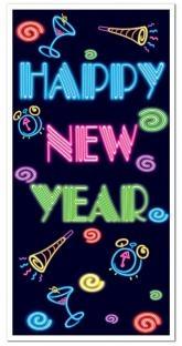 Tür-Dekofolie Happy New Year