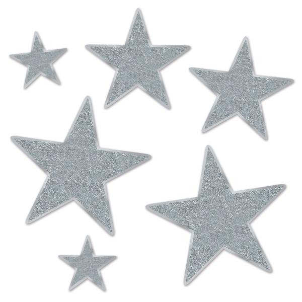 Silver Star Folienstern Set - Silberne Deko