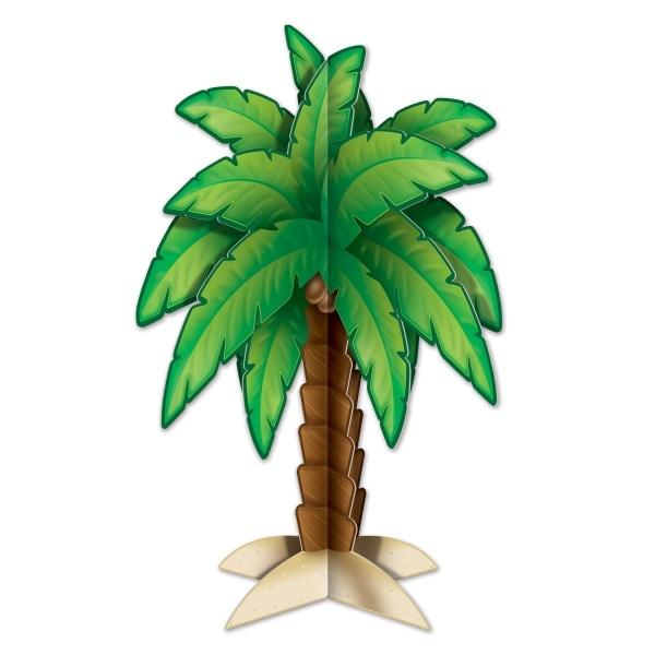 Party-Extra Tischdeko Palme, 29 cm - Hawaii Beachparty Deko