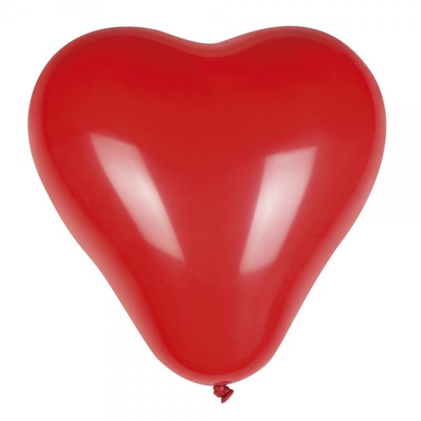 Luftballons Roter Herz, 6er Pack