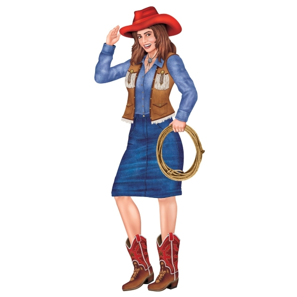 Cut-out-Figur Cowgirl, 90 cm groß