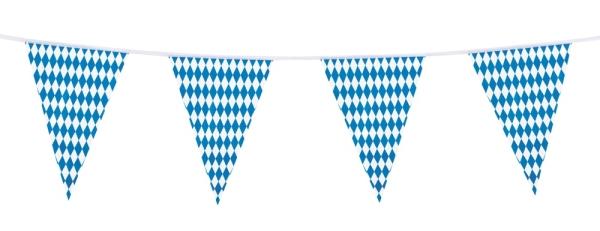 Party-Extra Wimpelkette Bayerische Raute, 10 Meter