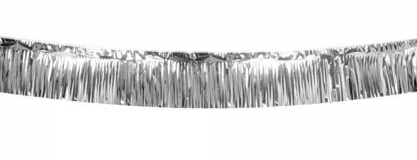 Party-Extra XL-Metallic Ftransenbanner silber, 6 Meter