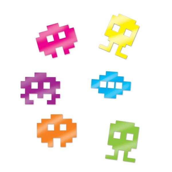 Party-Extra Tischkonfetti 80er Jahre 8-Bit Monster