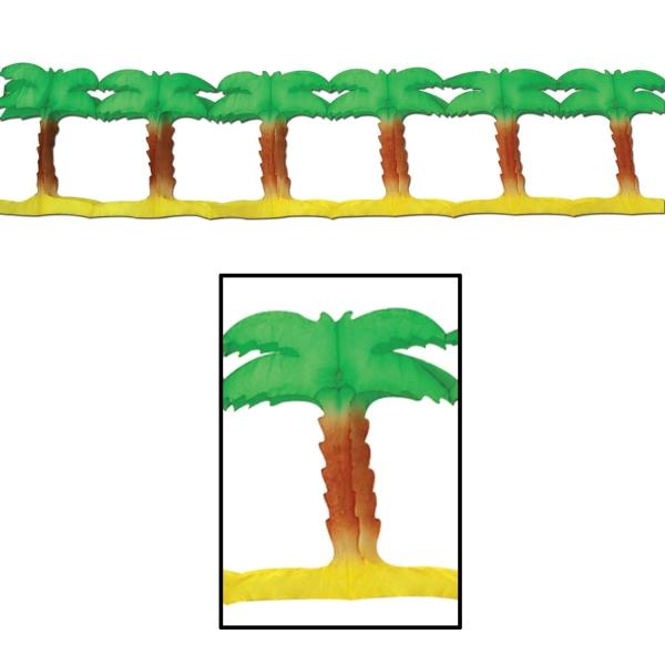 Girlande Palm Beach - Hollywood VIP Partydeko + Beachparty Deko
