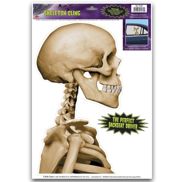 Party-Extra Fensterfolie Skelett