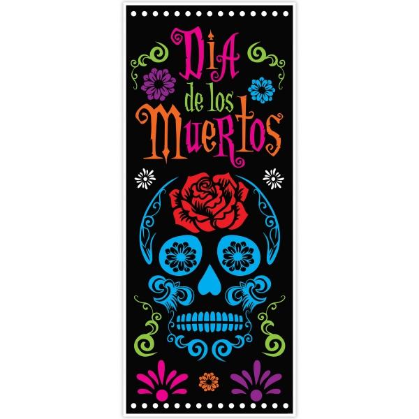 Tür-Dekofolie Dia de los Muertos - Halloween Mexikoparty