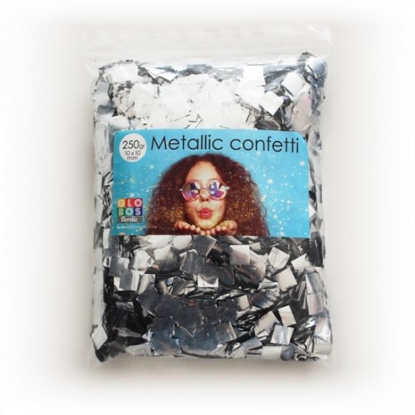 Megapack Metallic-Konfetti silber - Silberne Deko