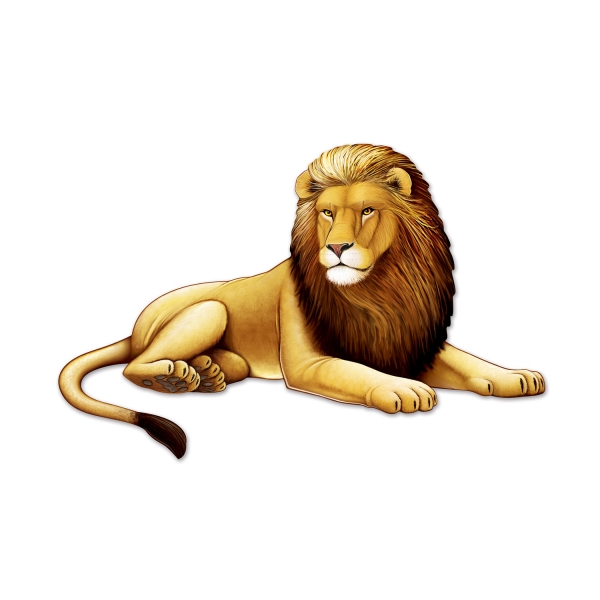 XL Löwen-Cutout - Dschungeldeko